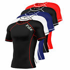 Mens-Compression-Armour-Base-Layer-Top-Half- SleeveThermal Gym Sports Shirt
