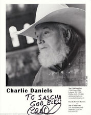 Charlie Daniels top Gross AK orig. sign. entre autres urban Cowboy + G 4100