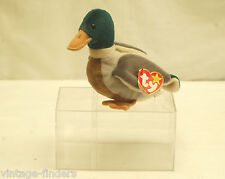 Ty Beanie Baby Jake the Mallard Duck 1997 Retired with Tags and Display Box