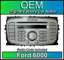 Ford 6000 CD player, Silver Ford S-Max car stereo headunit with Radio Code