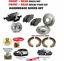 FOR CHRYSLER PT CRUISER 2000-  FRONT + REAR BRAKE DISCS SET + PADS + SHOES KIT