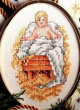 6 Ornaments ANGEL'S STORY & PLAYING IN THE SNOW Children Christmas Cross Stitch