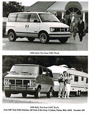 1988 GMC RALLY/SAFARI (VANDURA) Van Truck Press Kit {Brochure} Photo, Spec's