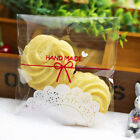 100pcs Clear Weddinfg Party Cake Candy Self Adhesive Seal Plastic Bag Hotsale