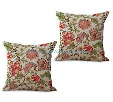 US SELLER-set of 2 couch with pillows retro vintage floral cushion cover