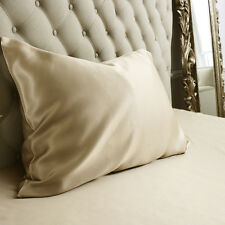 Jasmine Silk 100% Natural 19 Momme Charmeuse Silk Pillow case Taupe