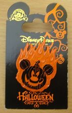 Disney Halloween 2011 - Flaming Pumpkin Mickey Pin - New on Card