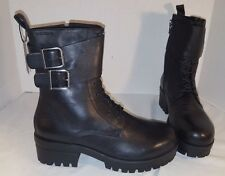 NEW WOMEN'S VAGABOND KAYLA BLACK LEATHER STRAP BOOTS SIZE US 9 EUR 39