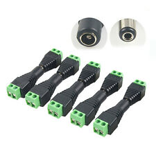 DC12V Plug Adapter Connector Male For 5050 3528 LED Strip Light Power Supply WJ