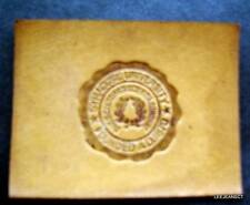 "Vintage Syracuse University 1910 Leather Seal Patch 2 1/2"" by 2"""
