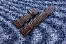 22mm/20mm Brown Genuine Alligator LEATHER SKIN WATCH STRAP BAND for PANERAI PAM
