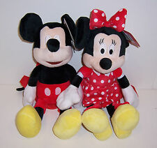 "SET/2 MINNIE MICKEY MOUSE 15"" PLUSH DOLL Dolls PURSE Shoulder Cross-Body BAG NEW"