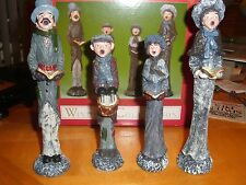 Windsor Collectible Figurines Christmas Carolers  Set of 4