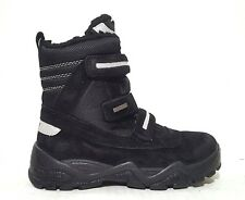 New $100 GABOR Kids Boys Boots LEATHER Winter Snow Black SIZE 5 USA/37 EURO/4 UK