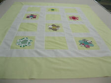 Patchwork Quilt Top Baby Wall Hanging 43 In W x 53 In L Grandmother Flower Block