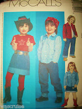 Children McCall 3742 Sewing Pattern UNCUT Girl Cowgirl Wardrobe Size 4-5-6 OOP