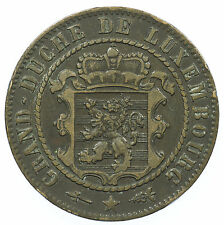 LUXEMBOURG, 10 CENTIMES, 1870