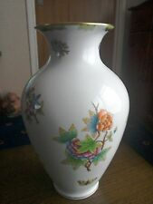"*Vintage* Herend Hungary""Queen Victoria"" 9""vase *Antique*"