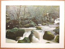 RUISSEAU DU BÉNET près de Murat Cantal - Photochromie fin 19ème gravure