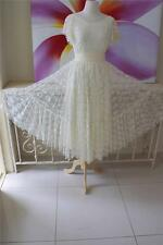MERIVALE 80s Vintage LACE WeDDinG Bridesmaid Formal Party CockTail Dress  S to M