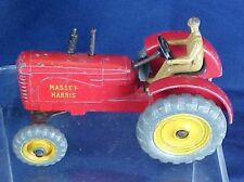 Vintage Metal Dinky Toys Massy Harris Tractor With Driver