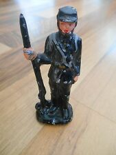 Old Vintage Figurine Action Figure Statue Toy Decor Military Soldier Army Gun