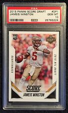 JAMEIS WINSTON PANINI SCORE NFL DRAFT Live Exclusive Chicago ROOKIE DP1. PSA 10