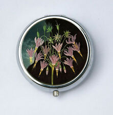 Meadia American Cowslip Flower Pill Case pillbox holder botanical
