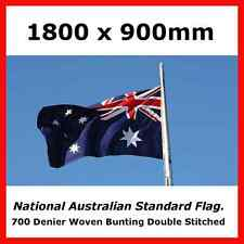 AUSTRALIAN FLAG HEAVY DUTY FULLY SEWN AUSTRALIAN MADE STANDARD SIZE OUTDOOR FLAG