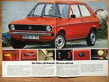 altes original Prospekt Polo VW Volkswagen 1978 TOP Zustand!!