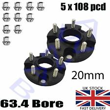 2cm 20mm Bolt On Hubcentric Wheel Spacers Ford Focus Mk2 ST 225 2.5T 5x108 Track