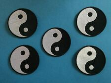 5 Lot Yin Yang Judo Jiu Jitsu Karate Tae Kwon Do Martial Arts Patches Crests 632
