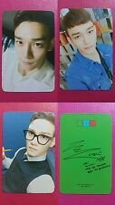 LOT of 3 CBX EXO CHEN Official Photocard 1st Album Hey Mama! Photo Card 종대 첸