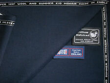 60%SUMMER KID MOHAIR &40%SUPER 120's WOOL SUITING FABRIC MADE IN ENGLAND- 4.65 m