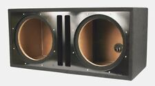 "Absolute Dual 12"" Twin Port Slotted 3/4 MDF Subwoofer Enclosure BLACK Box"