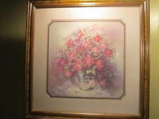 Home Interiors print of roses in a vase by Julia Crainer Lot 122