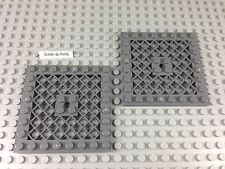 Lego Dark Bluish Gray Plate 8 x 8 with Grille and Hole Part# 4151b Dark Stone