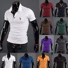 Mens Slim Fit Stylish POLO Shirt Short Sleeve Casual T-shirt Tee Tops M/L/XL/XXL