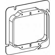 Orbit 52050 5 Inch Square 2 Gang 0.5 Inch Raised Steel Device Ring