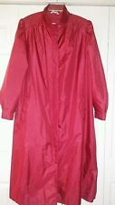 GUC Red FLEET STREET Trench Windbreaker Long Rain Coat Women's Plus Size 18