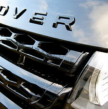 Gloss Black Bonnet lettering for Range Rover Evoque Dynamic prestige logo badge