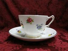 Crown Staffordshire Floral Bouquet Smooth, Pansies, Roses: Cup and Saucer Set(s)