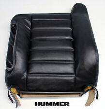 03-07 Hummer H2 SUT SUV TV/DVD Bose -Driver Lean Back Leather Seat Cover BLACK