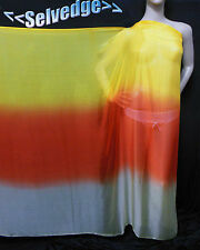 By Yard Designer Material Printed 100% Pure Silk Chiffon Fabric-Ombre-npc 34701