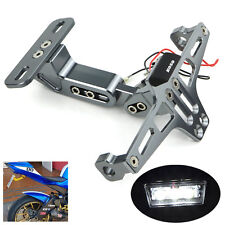CNC License Plate Holder Bracket Fender Eliminator For Yamaha Kawasaki SUZUKI