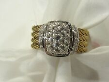 NWT $795 ALOR BY CHARRIOL CLASSIQUE DIAMOND RING 6.5 18K WHITE GOLD STEEL