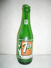 VINTAGE BUBBLE GIRL 7 UP 7oz. 8 in. SODA BOTTLE WICHITA KANS.1952