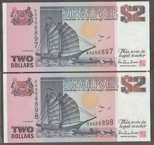 S'pore $2 ship purple TDRL cons pair 1992 aunc