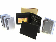 FATHERS DAY GIFT BOX 4 IN 1 WALLET INSERTS CREDIT CARD HOLDER GIFT IDEA NEW
