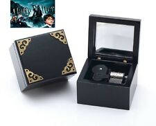 Black Vintage Square Silver Wind Up  Music Box : Harry Potter Hedwig's Theme